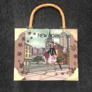 Handbags - Cigar box handbag with New York scene
